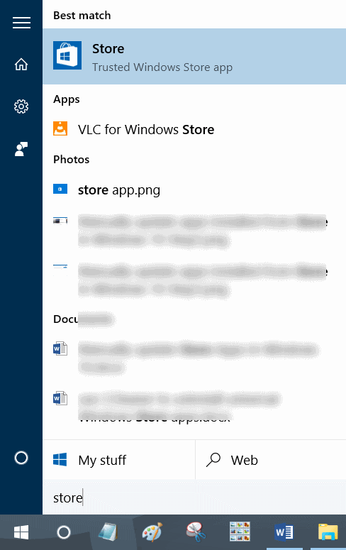 cerrar sesión en la aplicación Windows Store en Windows 10 step2