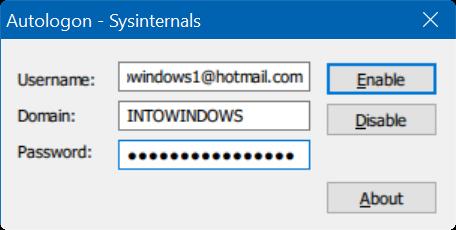 omitir bloqueo y pantalla de inicio de sesión en Windows 10 pic05