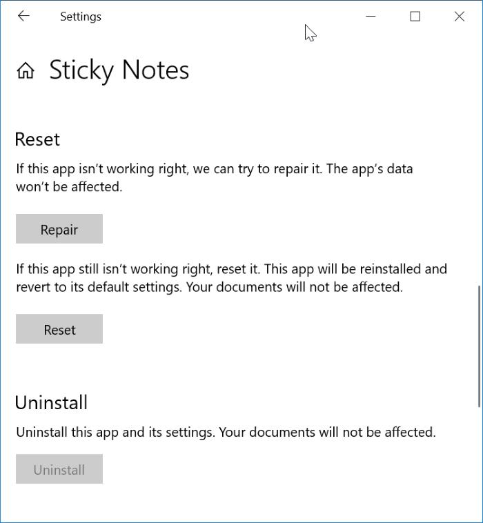 sticky notes doens