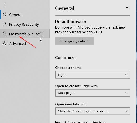 impedir que Edge guarde la información de la tarjeta de crédito en Windows 10 pic3