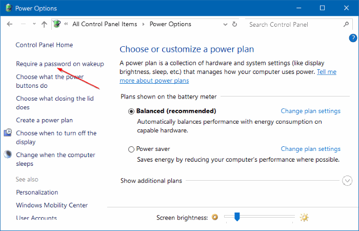 stop Windows 10 from asking for password after sleep step03
