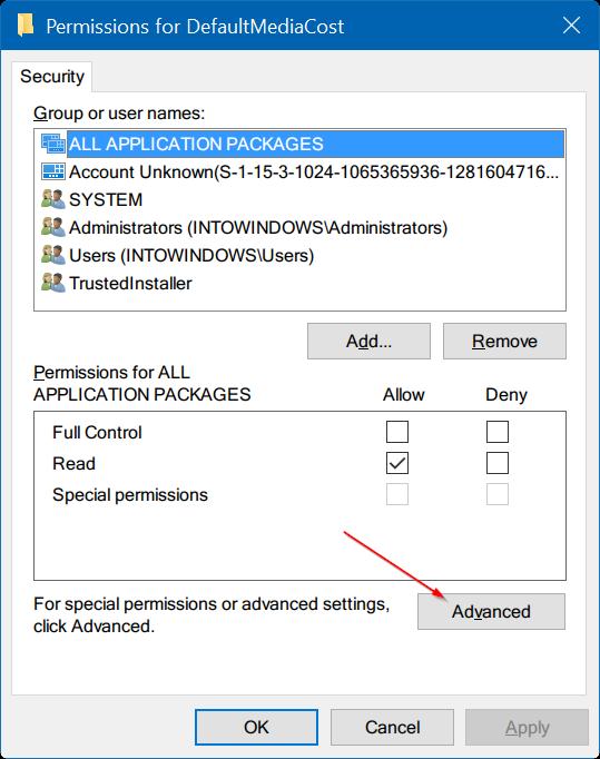 tomar propiedad del Registro en Windows 10 pic3