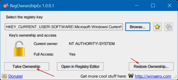 tomar propiedad del Registro en Windows 10 pic9