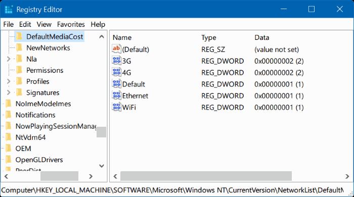 tomar propiedad del Registro en Windows 10