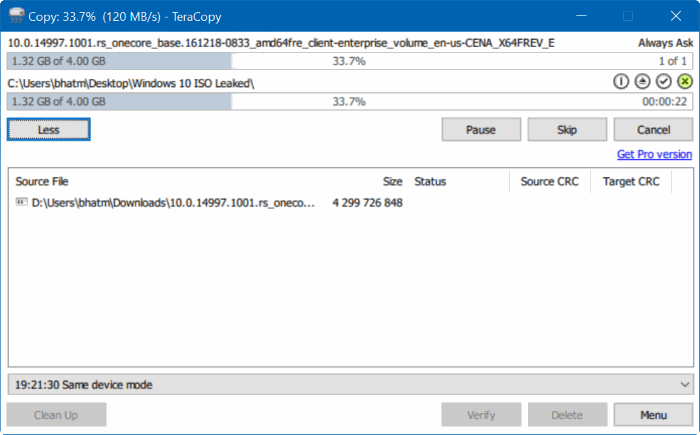 download teracopy free for Windows 10