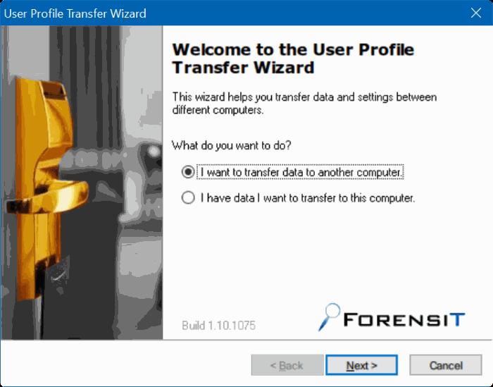 transferir perfiles de usuario en Windows 10 step1