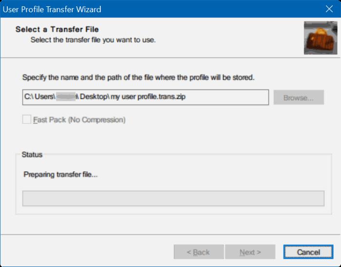 transferir perfiles de usuario en Windows 10 step5
