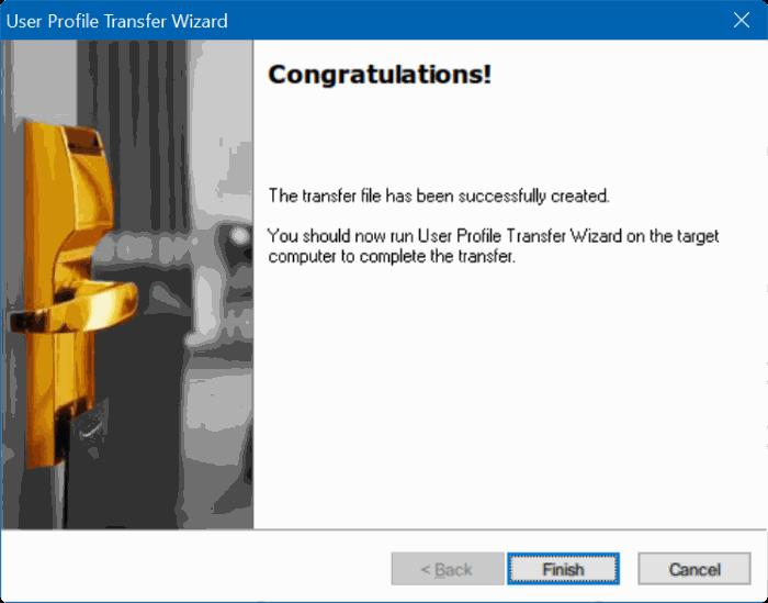 transferir perfiles de usuario en Windows 10 step6