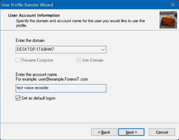 transferir perfiles de usuario en Windows 10 step9