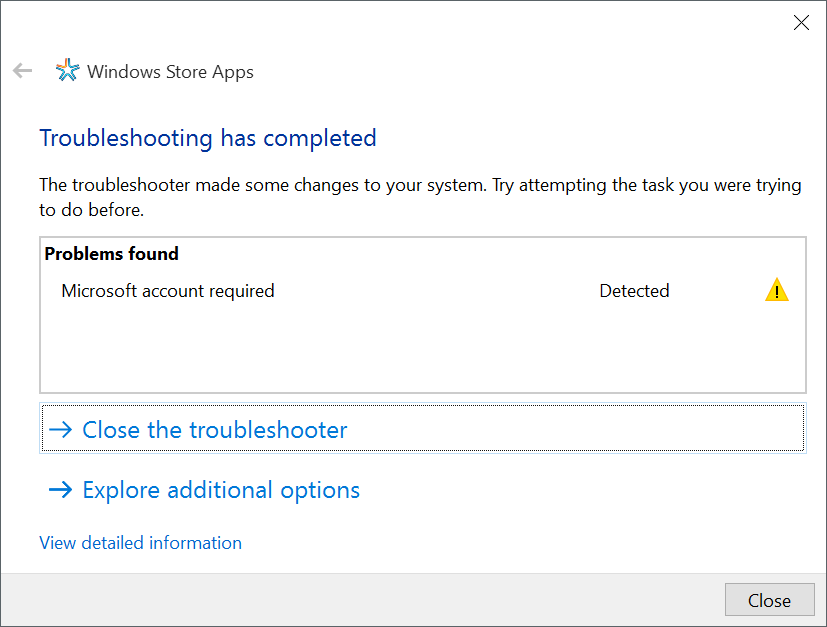 solucionador de problemas con las aplicaciones de la tienda Windows 10 pic1
