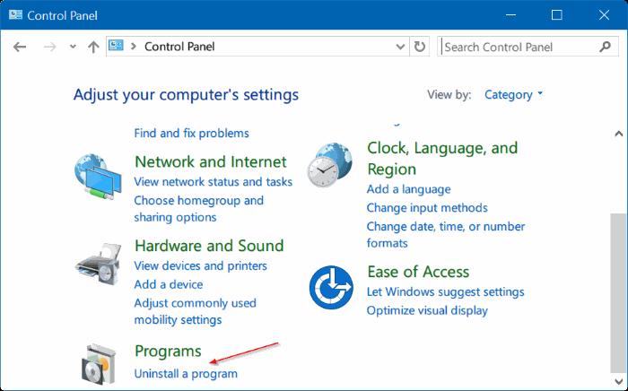 activar o desactivar características de Windows 10 pic03