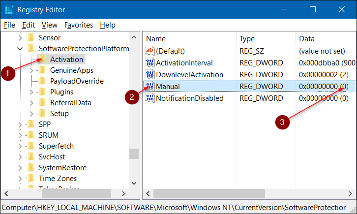 desactivar la activación automática en Windows 10 step2