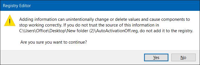desactivar la activación automática en Windows 10 step5