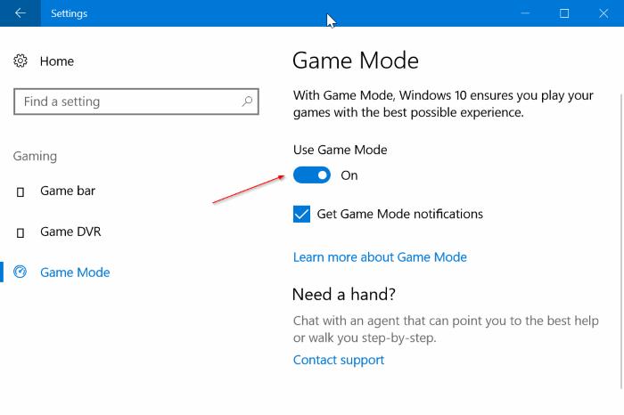 activar el modo de juego en Windows 10 pic1
