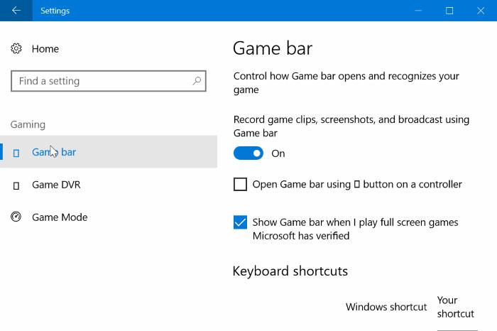 activar el modo de juego en Windows 10 pic2