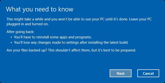 uninstall Windows 10 Anniversary Update pic4