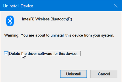 desinstalar o reinstalar el controlador Bluetooth en Windows 10 pic3