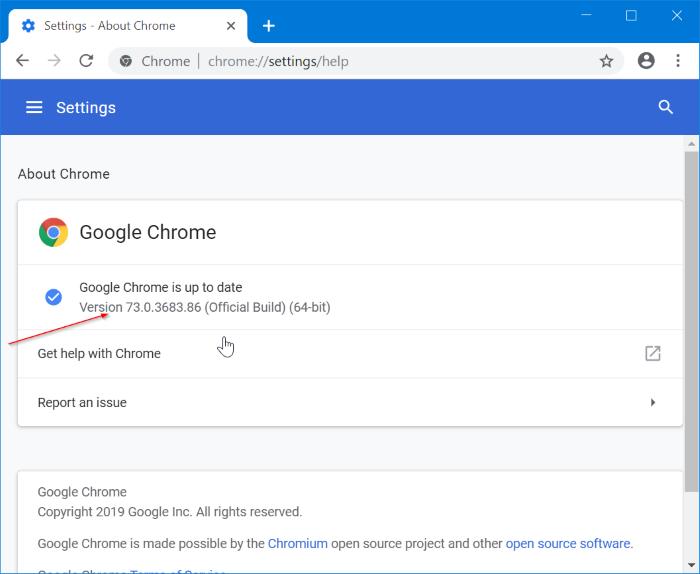 actualizar Google Chrome en Windows 10 pic2