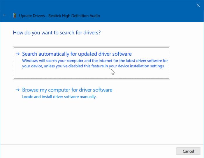 actualizar controladores de dispositivo en Windows 10 pic1