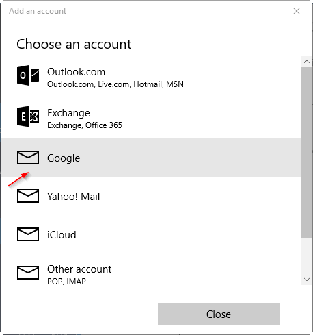 actualizar contraseña de gmail en Windows 10 pic11