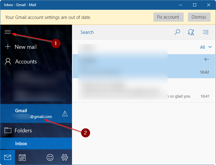update gmail password in Windows 10 pic2.1