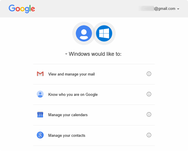 actualizar contraseña de gmail en Windows 10 pic4