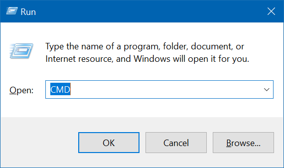 use Run command box to start progarms as administrator in windows 10 pic1