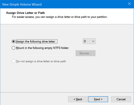 use disk management to partition USB on Windows 10 pic12