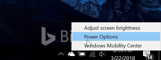 use power button to turn off laptop screen in Windows 10 pic1