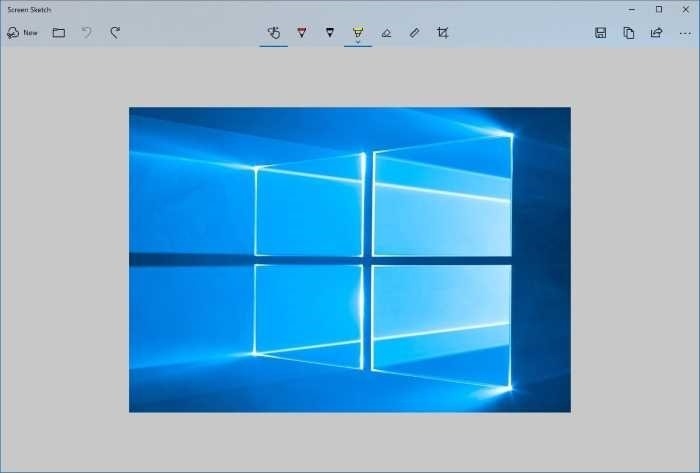 use print screen key to open Screen Sketch in Windows 10 pic1