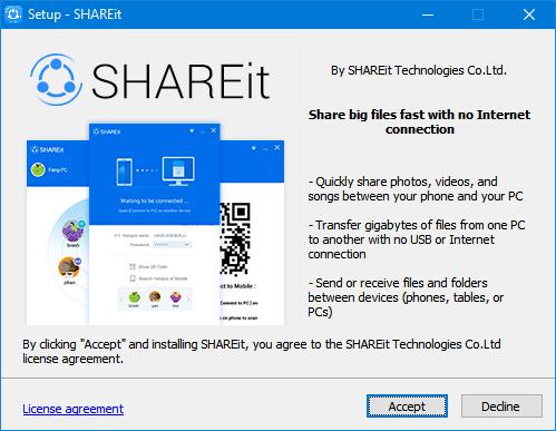 usar shareit para transferir archivos entre dos PCs pic1