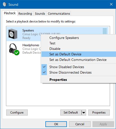 usar altavoz y auriculares al mismo tiempo en Windows 10 step2