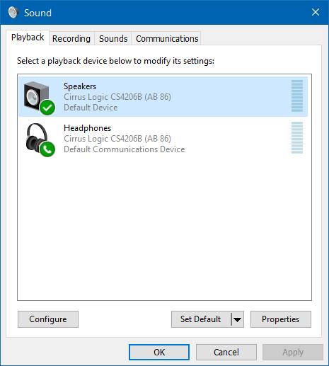 usar altavoz y auriculares al mismo tiempo en Windows 10 step3