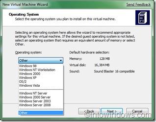 Virtual PC OS