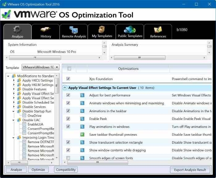 vmware os optimization tool for Windows 10 pic2