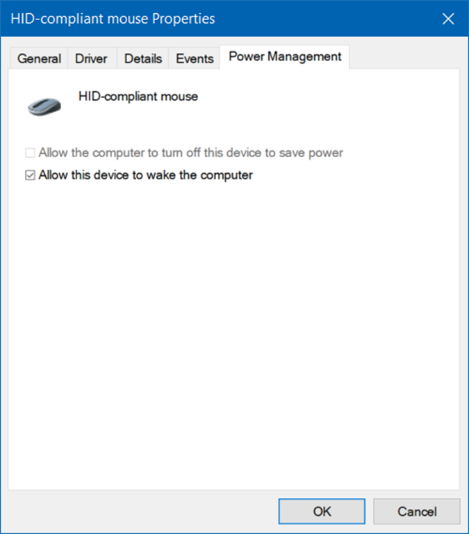 wake PC from sleep using keyboard and mouse in Windows 10 pic2
