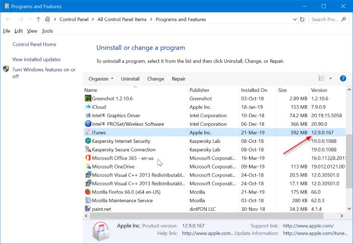 ¿Cuál es la última versión de iTunes para Windows 10 pic3?<div style=
