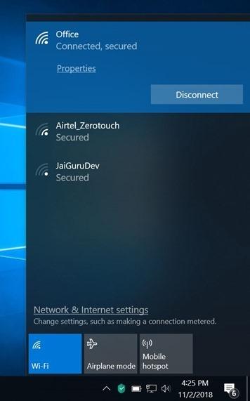 windows 10 mostrando el icono ethernet1