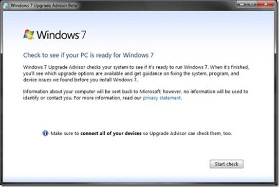 Asesor de actualizaciones de Windows 7