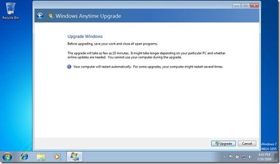 windows anytime upgrade 22