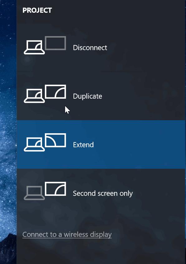 conexión inalámbrica del equipo portátil de Windows 10 a TV pic5
