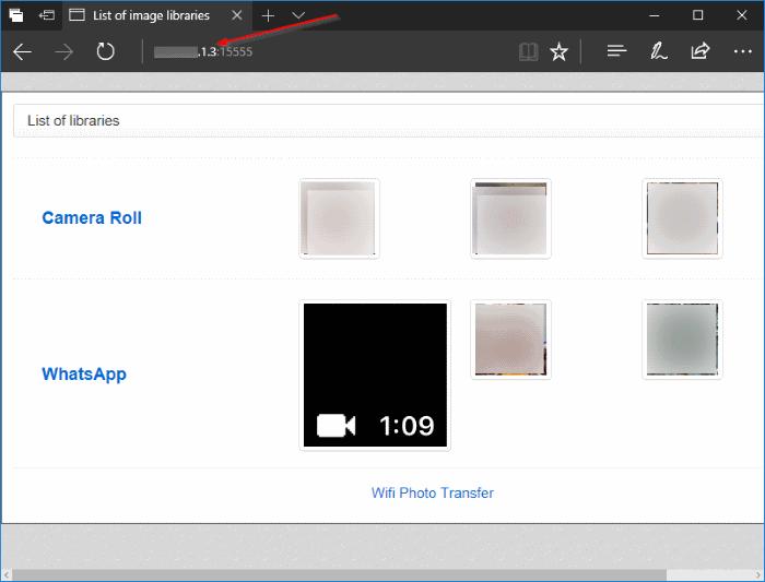transferir fotos de forma inalámbrica desde el iPhone a Windows 10 PC pic5
