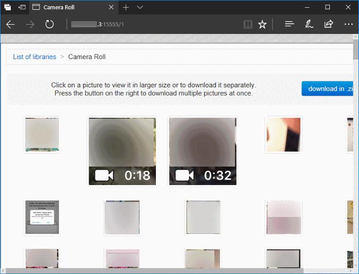 transferir fotos de forma inalámbrica desde el iPhone a Windows 10 PC pic6
