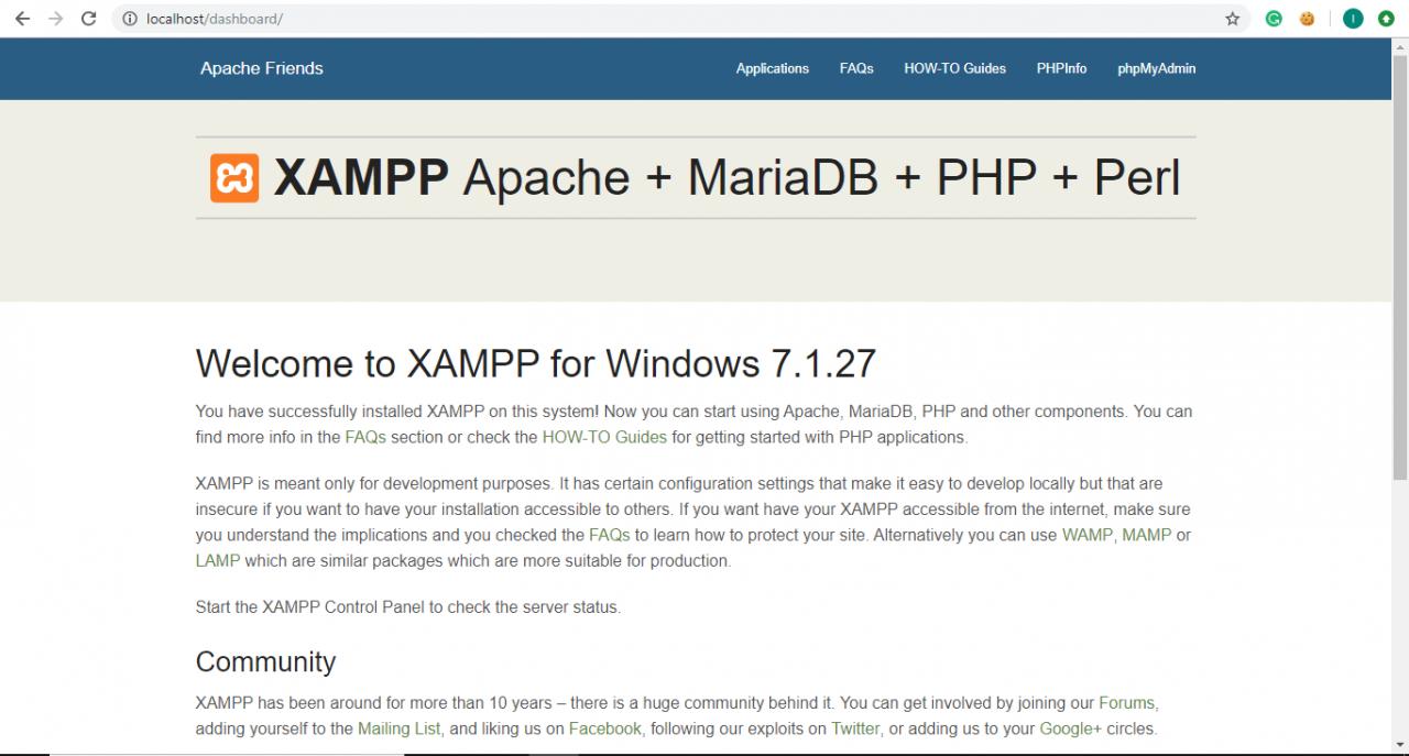 Xampp mongodb command